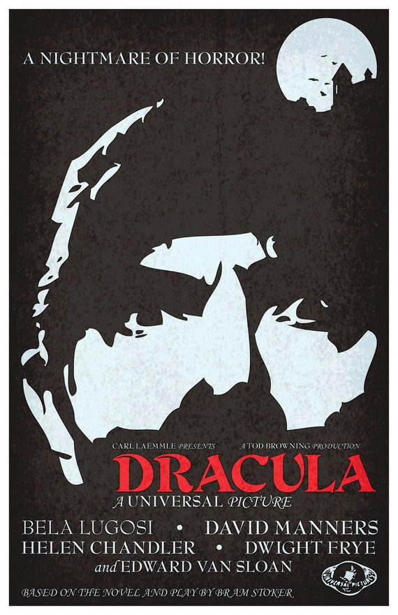 Dracula (1931) fan made movie poster 11
