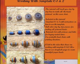 Paper Bead Tutorial C-1&2
