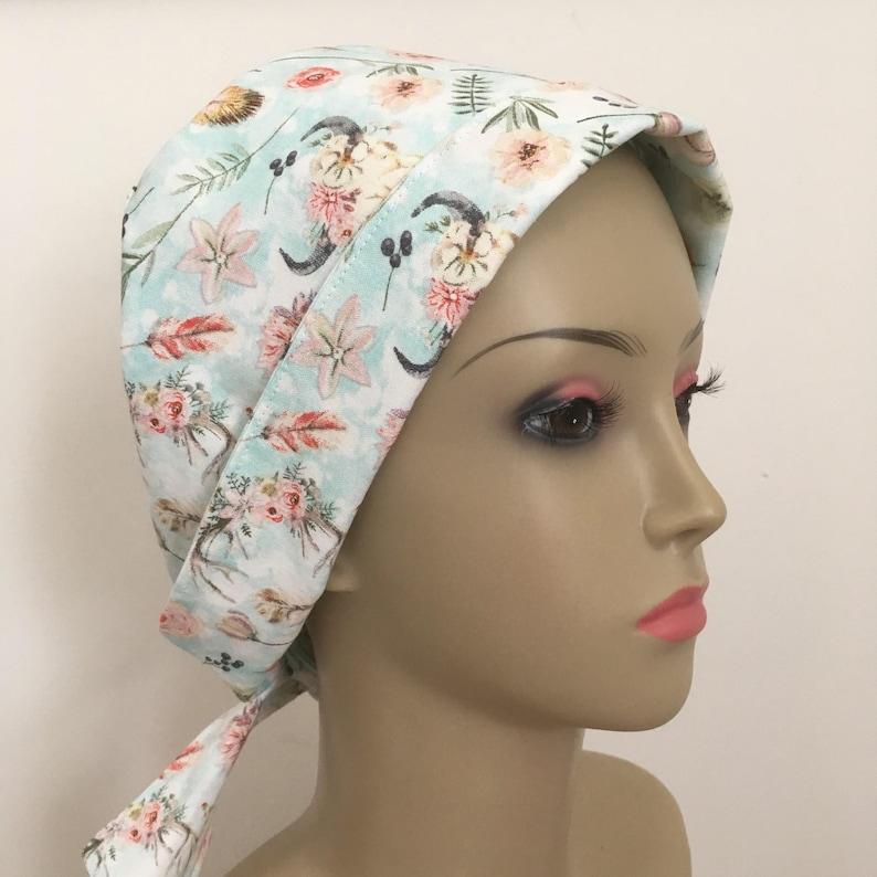 e7153440cec0e Women's Pixie Style Short Hair Medical Scrub Cap Country   Etsy