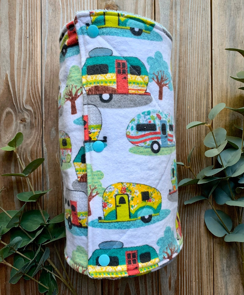 Zero waste UnPaper Towels Camper Flannel and Terry Cloth Set image 0