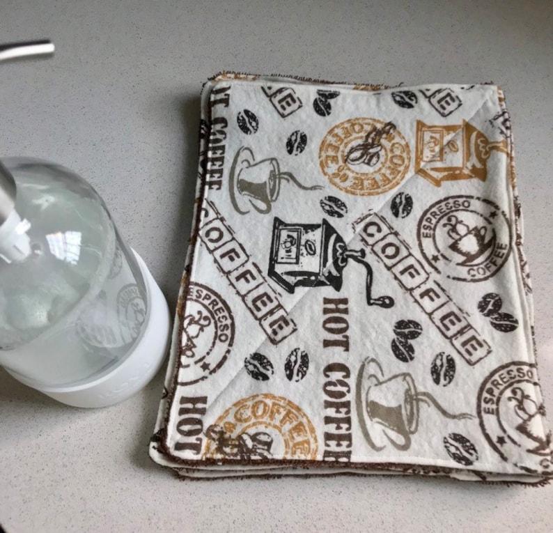 Wipes Unpaper Towels Reusable Zerowaste  Flannel Coffee Tea image 0