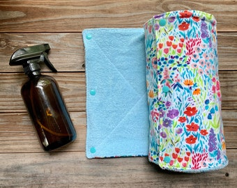 Zero waste Paperless Towels flowers Set of 6 or  10
