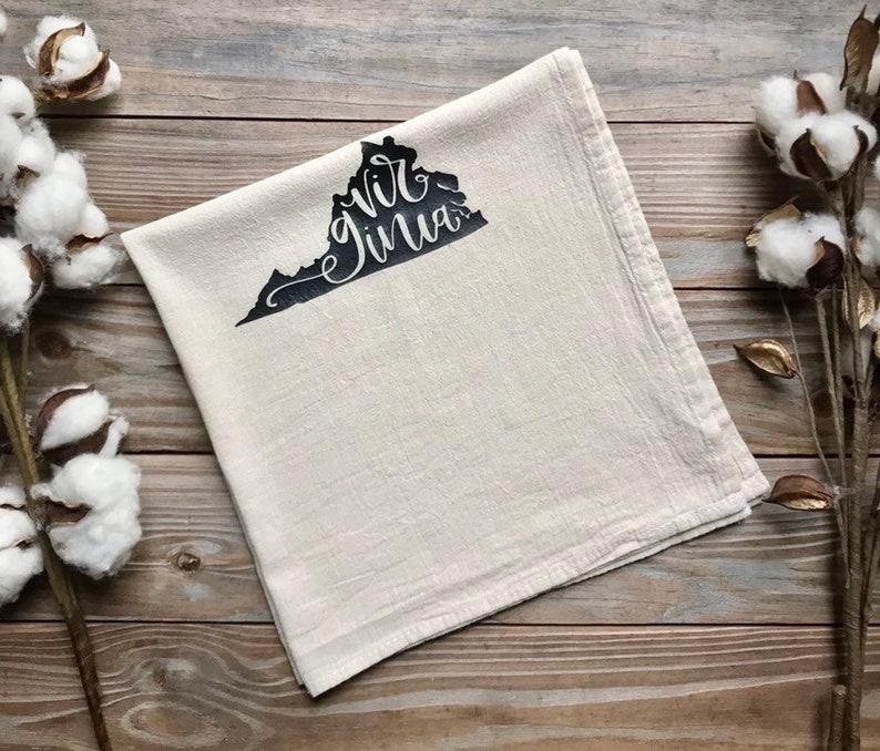 Flour Sack Virginia Tea Towel Feed Sack Kitchen image 0