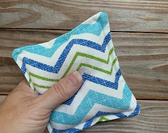 Owie bags, Ouchie Bags, Natural Hot/Cold Therapy Packs Blue chevron
