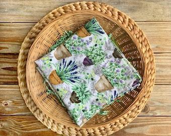 Napkins Zerowaste Lavender floral Set of 4