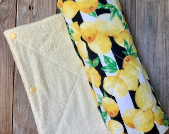 Lemon Non Paper Towels Flannel and Terry Cloth Set of 6 or 10