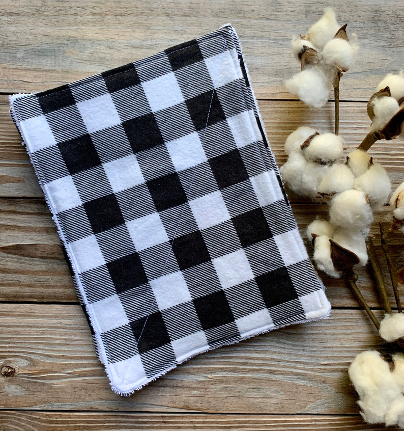 Wipes Unpaper Towels Reusable Paperless Flannel buffalo plaid image 0