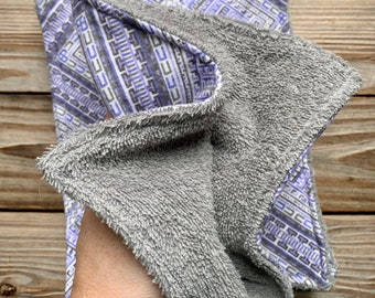 Paperless Towels Reusable Flannel Boho Low waste Cleaning small Set of 4