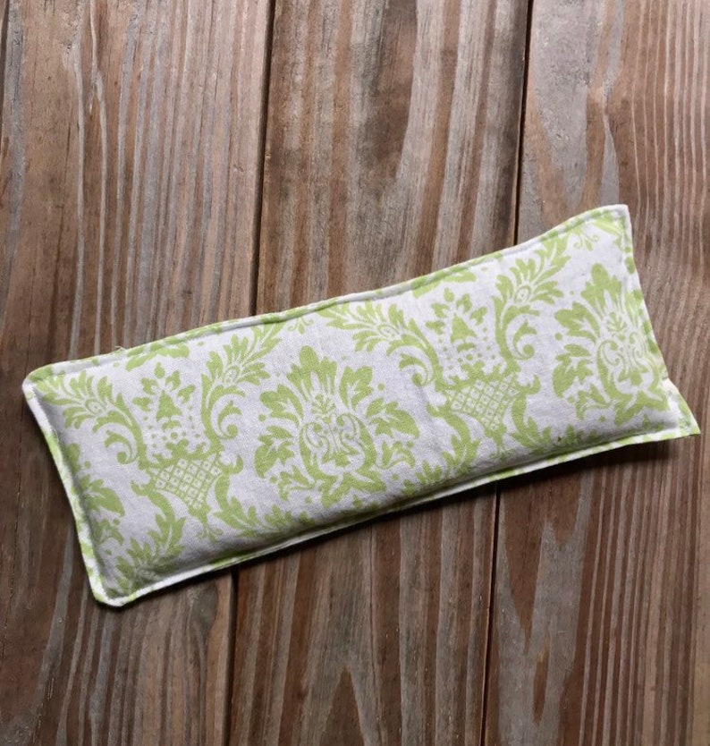 Hot/Cold Therapy Pack Flaxseed filled  Natural eye pillow image 0