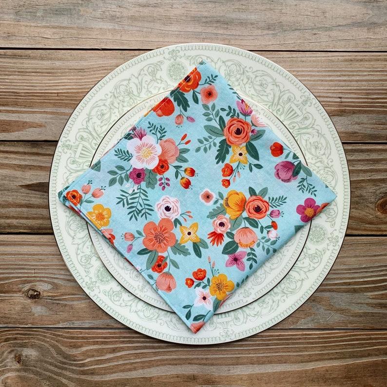 Lunch Napkins Floral print  set of 4 image 0