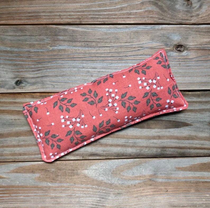 Therapy Pack Flaxseed filled  Natural hot cold eye pillow image 0