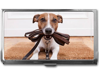 Your Jack Russell Terrier's Photo on a Business Card Holder