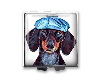 Dachshund Dog's Photo on a Pill Box Organizer