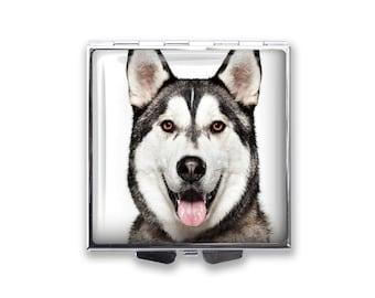 Your Siberian Husky Dog's Photo on a Pill Box Organizer