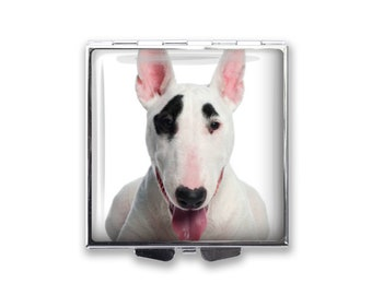 Your Bull Terrier Dog's Photo on a Pill Box Organizer