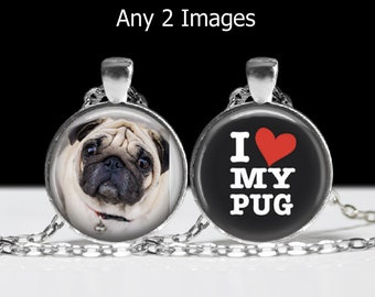 Your Personalized Custom DOUBLE SIDED PHOTO Pendant Necklace or Ornament