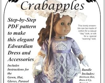 """Edwardian Fancy 4 pattern PDF Bundle for popular 18"""" dolls"""