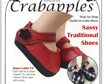 Classic Shoes - A Girl for All Time - PDF Pattern - Mary Janes - AGAT - Dress Shoes