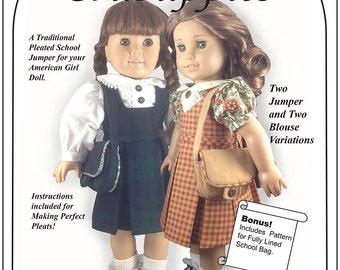 School Uniform - 18 inch Doll - Jumper - Blouse - Schoolbag - Back to School - Classic - PDF Instant Download - Messenger Bag - Ensemble