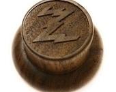 Reproduction 1936-1937 Zenith Radio Knob - Solid Walnut Wood