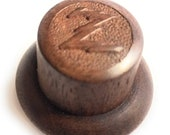 Small Solid Wood Hand Made Zenith Knob - Antique Radio Repair