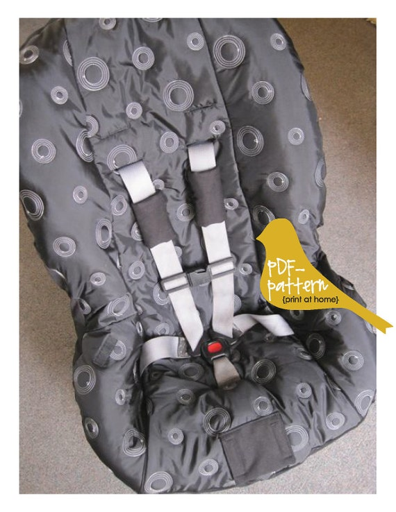 Toddler Car Seat Cover PDF INSTANT DOWNLOAD Sewing Pattern