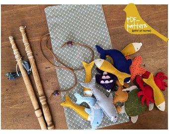 Toddler Fishing Game PDF (INSTANT DOWNLOAD Sewing Pattern)