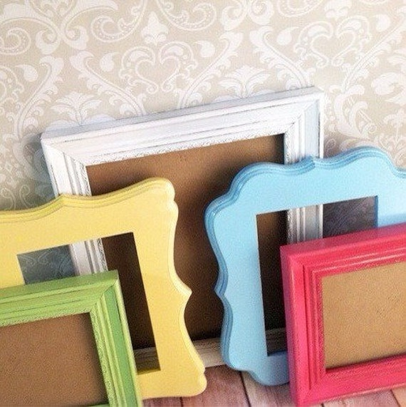 Bright Picture Frames Curvy Frames Candy Colors Moana Etsy