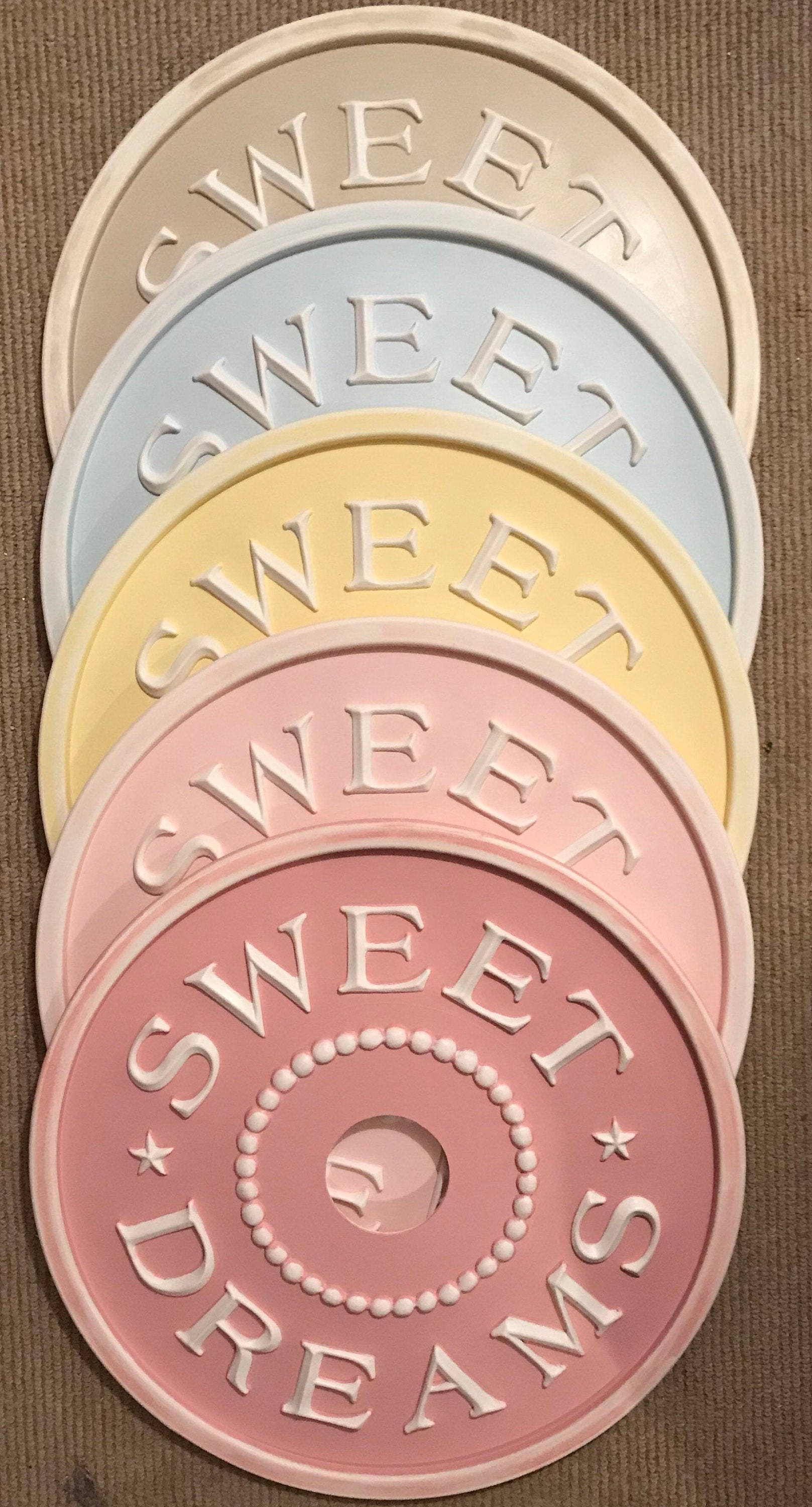 Ceiling Medallions, Sweet Dreams Ceiling Medallion, Home and Living,  Lighting, Pink Decor, Yellow Decor, Marie Ricci, Farmhouse decor, baby
