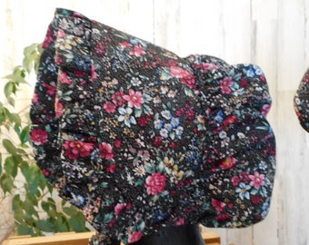 Ladies Bonnet Midnight Bloom