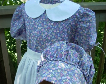 """Ready to Ship - Girls Pioneer Dress """"Mary"""" Size 12"""