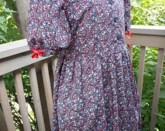 "Ready to Ship -Girls Pioneer Dress ""Katy"" Size 7"