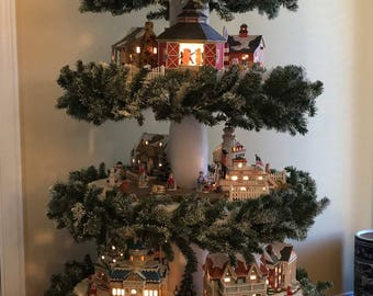 christmas village tree instructions christmas village display diy plans digital download file