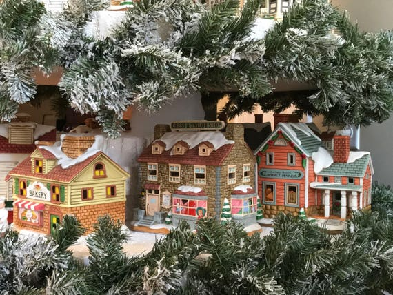 Christmas Village Tree Instructions Christmas Village Display Diy Plans Digital Download File