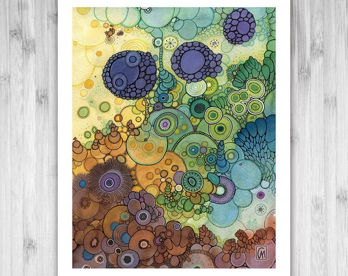 GICLEE PRINT - Homecoming - DoodlePainting - Select Your Size