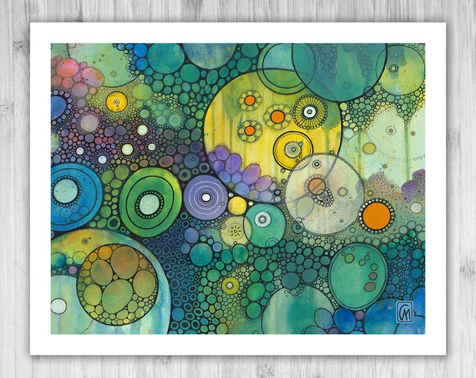 GICLEE PRINT - Make Me Wonder Doodle Painting - Select Your Size