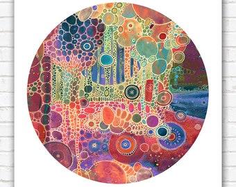 PRINT  - Couleurs - 12x12 - Circle - DoodlePainting