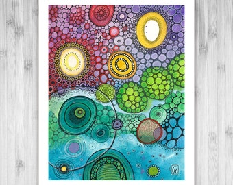 GICLEE PRINT - Meccano - DoodlePainting - Select Your Size