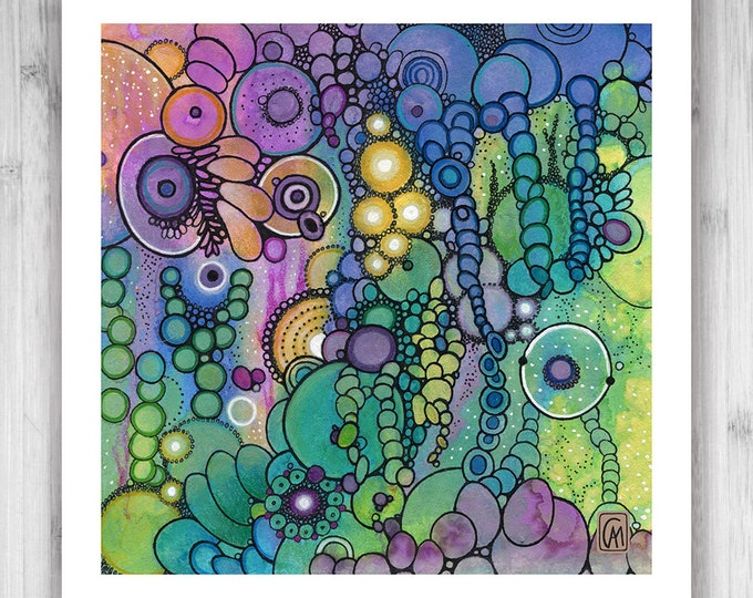 GICLEE PRINT - Exaltation - Quad 4 - DoodlePainting - Select Your Size
