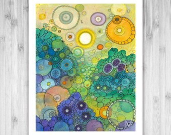 GICLEE PRINT -  No Better Place - Doodle Painting - Select Your Size