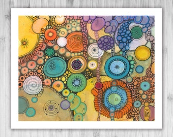 GICLEE PRINT - Hoppipolla - DoodlePainting - Select Your Size