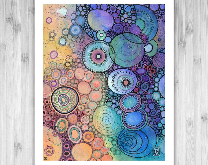 GICLEE PRINT -  Lonesome Dreams - DoodlePainting - Select Your Size