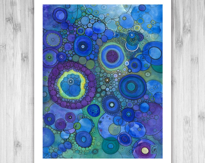 GICLEE PRINT -  Light Years From Home - DoodlePainting - Select Your Size