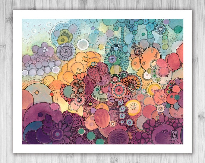 GICLEE PRINT -  Open Your Eyes - DoodlePainting - Select Your Size