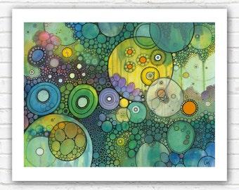 PRINT - Make Me Wonder Doodle Painting - 5x7 or 8x10