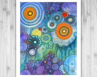 GICLEE PRINT -  My Tears Are Becoming A Sea - DoodlePainting - Select Your Size