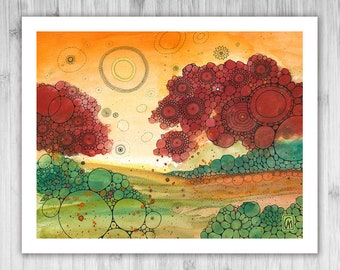 GICLEE PRINT - Go Your Way - DoodlePainting - Select Your Size