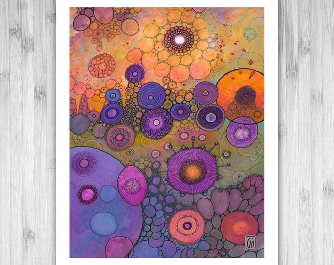 GICLEE PRINT - Guiding Light - DoodlePainting - Select Your Size