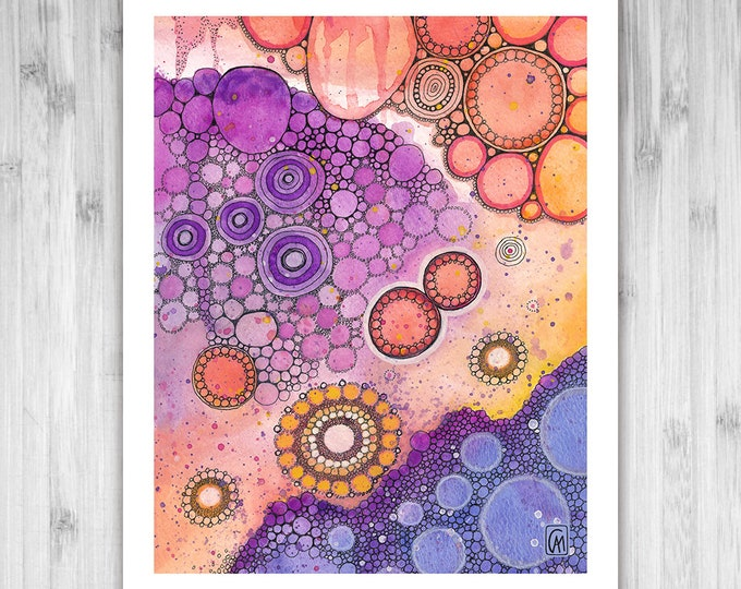 GICLEE PRINT -  Only In Dreams - DoodlePainting - Select Your Size