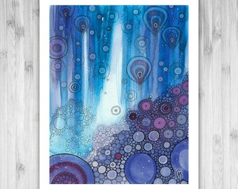 GICLEE PRINT - Lazuli - DoodlePainting - Select Your Size